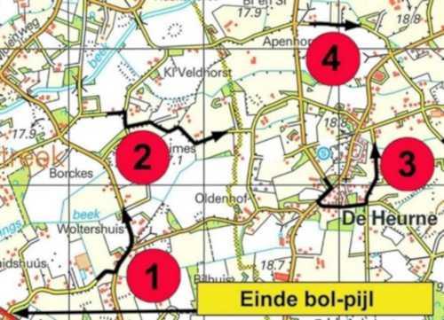 Voorbeeld pijl kortste route